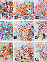 1000PCS 5mm Nail Art Soft Pottery Slice Christmas Flowers Fruit Animal Smile Cake Love