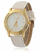 Women's Fashion Watch Quartz PU Band White Red Yellow
