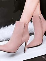 Для женщин Обувь на каблуках Удобная обувь Полиуретан Зима Повседневные Удобная обувь На плоской подошве Пурпурный Красный РозовыйНа