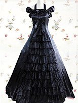 One-Piece/Dress Gothic Lolita Lolita Cosplay Lolita Dress Vintage Cap Sleeveless Floor-length Dress For Other