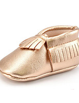 Newborn Baby Kids' Loafers & Slip-Ons First Walkers Synthetic Fall Winter Party & Evening Dress Casual Tassel Flat Heel Dark Brown Blushing Pink Gold