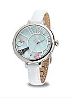 Mujer Reloj de Moda Cuarzo Piel Banda Blanco Rosa