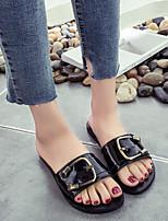 Damen Slippers & Flip-Flops Komfort PU Frühling Normal Komfort Weiß Schwarz Flach