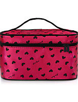 Women Cosmetic Bag PU All Seasons Baguette Zipper Blushing Pink Ruby Peachblow