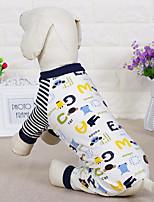 Chien Combinaison-pantalon Vêtements pour Chien Décontracté / Quotidien Sportif Dessin Animé Gris Rose Noir