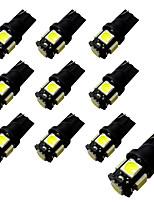 10pcs Ba9s / T10 Blackboard 2W 5 * 5050 SMD LED Reading Light White Light 6500-7000K 12V