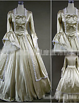 One-Piece/Dress Gothic Lolita Vintage Inspired Cosplay Lolita Dress Solid Color Floor-length Skirt Dress Bow For Other