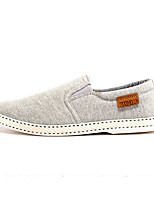 Men's Loafers & Slip-Ons Comfort Fabric Spring Casual Gray Coffee Navy Blue Flat