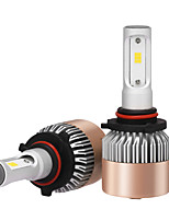 2pcs 9005 farol 72w 7200lm philips led kit high low beam substituir halogênio xenon 6500k 12v