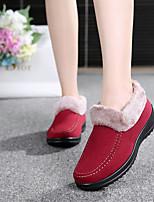 Для женщин Ботинки Босоножки Полиуретан Зима Повседневный На толстом каблуке Желтый Коричневый Красный 2,5 - 4,5 см