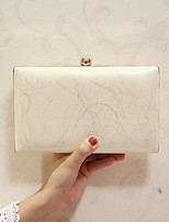 Women Evening Bag PU All Seasons Event/Party Casual Party & Evening Club Baguette Magnetic White Champagne