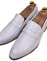 Men's Sneakers Comfort Cowhide Spring Casual White Black Flat