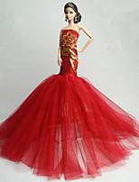 Festa/Noite Vestido Para Boneca Barbie Vestido Para Menina de Boneca de Brinquedo