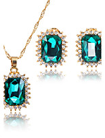 Jewelry Set Bridal Jewelry Sets Pendants AAA Cubic Zirconia Square Euramerican Fashion Adorable Simple Style ClassicCubic Zirconia
