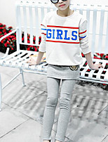 Girls' Solid Color Pants Spring