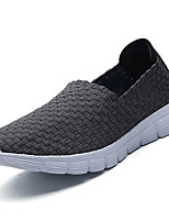 Men's Loafers & Slip-Ons PU Summer Flat Heel Black Gray Blue Under 1in