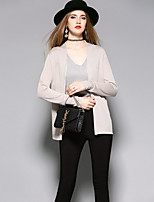 ANGEL Women's Going out Casual/Daily Cute Spring Summer ShirtSolid Round Neck Long Sleeve Rayon Thin
