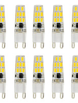 New 3W G9 Slim Crystal Silicone LED Bulb for Chandelier / Wall Sconces 16 SMD 5730 260lm AC220-240V (10 pcs)