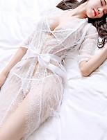 Lingerie en Dentelle Ultra Sexy Vêtement de nuit Femme,Sexy Dentelle Voiles & Transparence Polyester