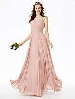 2017 LAN TING BRIDE Floor-length V Neck Bridesmaid Dress - Open Back Elegant Sleeveless Chiffon