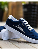 Men's Sneakers Canvas Spring White Black Blue Flat