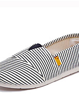Women's Loafers & Slip-Ons Comfort Canvas Spring Casual Comfort Blue Ruby White Flat