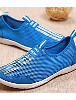 Для женщин Мокасины и Свитер Удобная обувь Ткань Тюль Весна Повседневные Удобная обувь Серый Пурпурный Светло-синий На плоской подошве