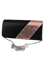Women Evening Bag Polyester All Seasons Formal Event/Party Wedding Minaudiere Crystal/ Rhinestone Clasp Lock Black