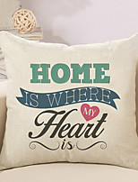 1 Pcs Home Is Where My Heart Quotes & Sayings Pillow Cover Cotton/Linen 45*45Cm Pillow Case