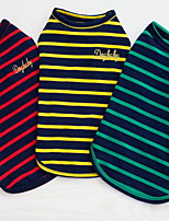 Other Clothes/Jumpsuit Dog Clothes Cute Casual/Daily Stripe Green Red Yellow