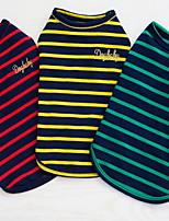 Other Комбинезоны Одежда для собак Милые На каждый день Полоски Желтый Красный Зеленый