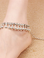 Women's Anklet/Bracelet Alloy Vintage Bohemian Drop Silver Women's Jewelry For Daily Casual 1pc