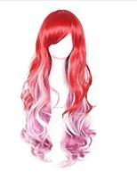 cosplay perruque Synthétique Sans bonnet Perruques Long Rouge Cheveux