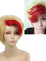 Short Straight Anime YURI!!! on ICE Minami Kenjiro Cosplay Wig Synthetic Hair Red Highlight Light Gold for Halloween Heat Resistant