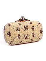 L.WEST Woman Fashion Luxury High-grade 7 Colour Resin Diamond Evening Bag