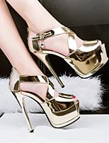Femme Chaussures à Talons Confort Polyuréthane Eté Décontracté Talon Aiguille Or Noir Argent 2,5 à 4,5 cm