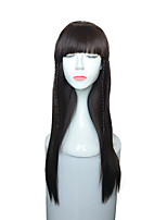 Capless Kinky Straight Synthetic Wig Long Women Wig
