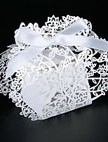 50pcs Laser Cut Flower And Leaf Wedding Favors Box  Candy Box Baby Shower Favors Box Wedding Decoration