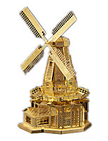 Jigsaw Puzzles 3D Puzzles Building Blocks DIY Toys Windmill StainlessSteel Model & Building Toy