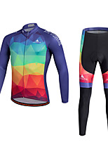 Miloto Maillot et Cuissard Long de Cyclisme Vélo Pantalon/Surpantalon Maillot Collants Hauts/Tops Ensemble de VêtementsPolyester 100 %