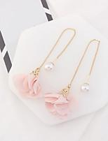 Per donna Orecchini a goccia Perle finte Di tendenza Euramerican Lega A forma di fiore Gioielli Per Feste Quotidiano Casual 1 paio