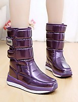 Women's Boots Comfort PU Suede Tulle Spring Winter Casual Comfort Purple Flat