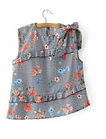 Women's Daily Casual Simple T-shirt,Solid Print Round Neck Short Sleeve Cotton Blend