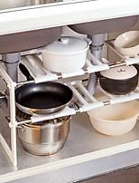 Home Stainless Steel Sink Lower Multi-storey Telescopic Shelf Floor Storage Shelf