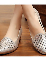 Women's Sneakers Comfort Fabric Spring Casual Silver Black Gold Flat