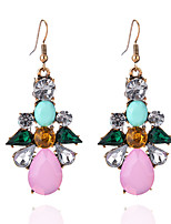 Drop Earrings Euramerican Fashion Acrylic Alloy Geometric Drop Jewelry For Party Birthday 1 pair