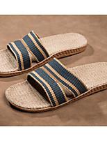 Для мужчин Тапочки и Шлепанцы Удобная обувь Шёлк Лён Весна Повседневные Удобная обувь Кофейный Темно-серый Розовый На плоской подошве