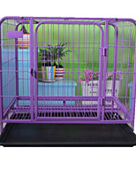 Cat Dog Bed Pet Baskets Solid Foldable Durable Blushing Pink Purple