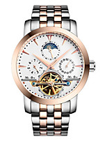 Men's Fashion Watch Mechanical Watch Quartz Automatic self-winding Water Resistant / Water Proof Alloy Band Silver