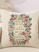 1 Pcs Wedding Flowers Printing Pillow Cover 45*45Cm Cotton/Linen Pillow Case Home Decor Cushion Cover